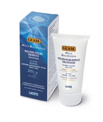 Guam Микробиоклеточная очищающая энзимная маска-пилинг для лица, 75мл.